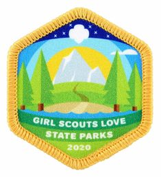 GSAH_State-Parks-Patch_2020 Marblehead Lighthouse, Girl Scout Fun Patches, Campfire Songs, Washington State Parks, Event Registration, Edible Wild Plants, Cool Patches, Wild Edibles, Johnson And Johnson