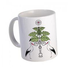 Kubek z Bocianami - Ceramika - Dekoracje wnętrz