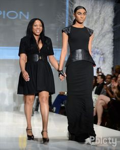 deidre jeffries - wearing her design Espion. She models herself how curvy thighs can be draped attractively.