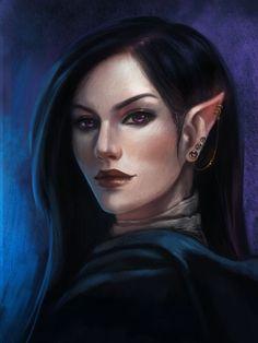 f High Elf Wizard Cloak portrait 12thlvl community traveler