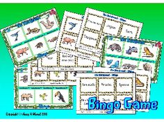 THE RAINFOREST- Set of 3 bingo mats including 18 matching picture cards and 18 word cards