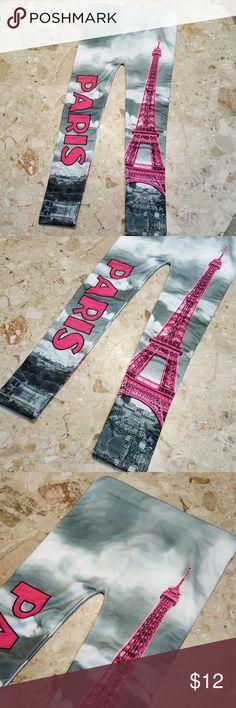 Eiffel tower paris leggings NWOT size 6-6x or Size small.  Never worn. Blue Star Bottoms Leggings