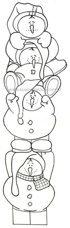 Snowman Tower x Christmas Coloring Pages Christmas Embroidery, Hand Embroidery, Embroidery Designs, Christmas Coloring Pages, Coloring Book Pages, Christmas Projects, Holiday Crafts, Snowman Crafts, Applique Patterns