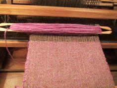 Echarpe en cours : chaîne laine Shetland du Marquenterre - trame islandaise