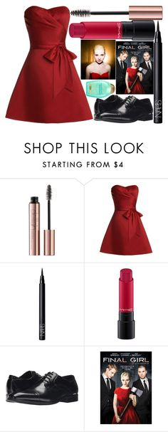 """""""final girl: veronica"""" by silent-killer ❤ liked on Polyvore featuring NARS Cosmetics, MAC Cosmetics, Stacy Adams and Organix"""