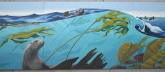 images 0f blue week | New Mural by Liza McElroy Celebrating Ocean Life is Featured at the ...