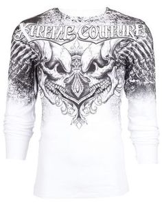 306085ba Details about Xtreme Couture AFFLICTION Mens THERMAL T-Shirt LEGENDARY  Tattoo Biker M-3XL $58