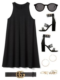 """""""Sin título #894"""" by bethsalash on Polyvore featuring moda, Gap, Thierry Lasry, Gucci, Jennifer Zeuner y GUESS"""