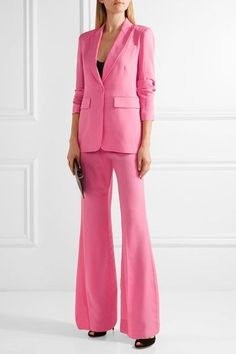 Pink silk crepe de chine  Button fastening at front 100% silk Dry clean Imported