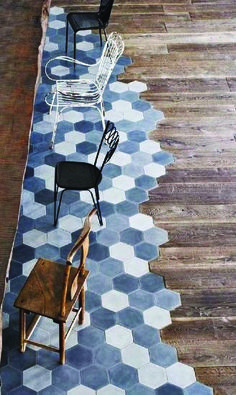 A very innovative way to combine tile and timber