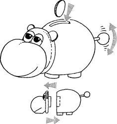 602N Spardose Hippo Nilpferd