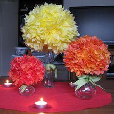 Tissue paper flower centerpieces yelomdiffusion cheap diy party centerpieces paper flower centerpieces tissue mightylinksfo