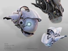 Old drone I designed and built. Rendered in realtime in unreal engine 3.