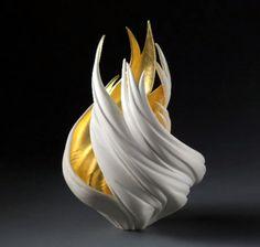 Jennifer McCurdy: Gilded Vortex Vessel • Ceramics Now - Contemporary ceramics magazine