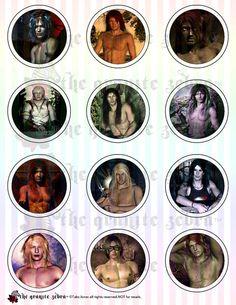 Fantasy Men Gothic 2 inch Pinback Button by TheGraniteZebra
