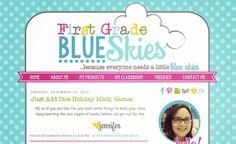 First Grade Blue Skies | blog design