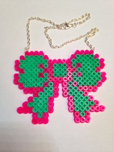 Cute kitsch hama perler bead bow by KraftyKreatureKt