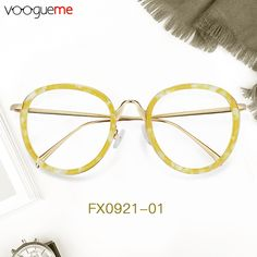 305f17f923 Deanna Round Yellow Eyeglasses The glasses are made of high-quality  materials. Bright and. Voogueme