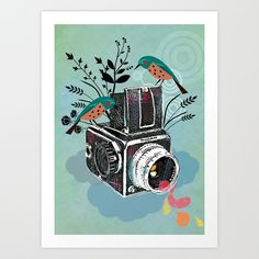Vintage Camera Hasselblad | Illustrator: Elisandra
