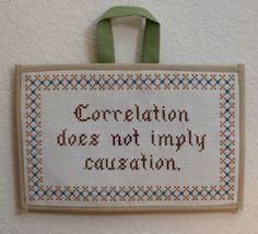 Correlation does not imply causation. Ahhh, Statistics...
