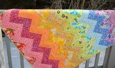 Quilt Story: Seaside Stitches zig zag quilt...