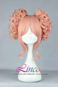 35cm-Long-Pink-Beautiful-lolita-wig-Anime-Wig Modoka cosplay