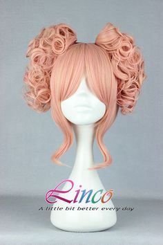 35cm-Long-Pink-Beautiful-lolita-wig-Anime-Wig Modoka cosplay