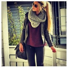 A scarf completes an outfit