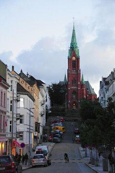 Winter Streets in Bergen, Norway