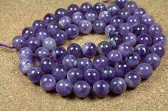 Amethyst Round Beads  Smooth Dark Purple Round Beads by ABOSBeads