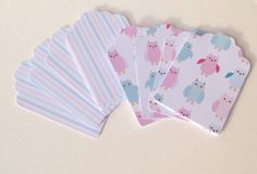 Card Gift,Message Blank Tags,Co-Ordinating 'Owl' Design Printed Card,30pk £1.20