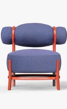 Chignon new GTV chair designed by LucidiPevere at Salone del Mobile. Softness and lightness with a veiled retro note.