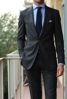 "Via paul-lux: ""New Kingston MTM suit (Scabal fabric) Finamore shirt Charvet tie John Lobb shoes"""