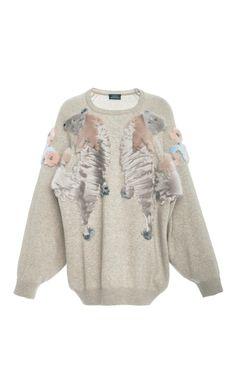 Mink Trim Cashmere Sweater by ALENA AKHMADULLINA for Preorder on Moda Operandi