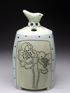 Image result for flower imagery, pottery