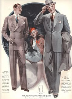 1930s vintage clothes. Windsor Tailoring Company Style Book Autumn 1935 to Winter 1936, my personal collection.