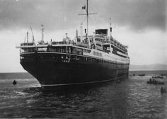 The Italian passenger ship, Saturnia,1951