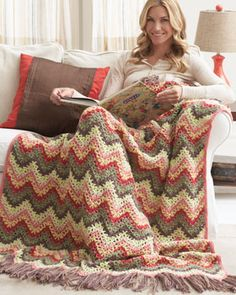 A contemporary take inspired by a classic pattern. Shown in Bernat Super Value.