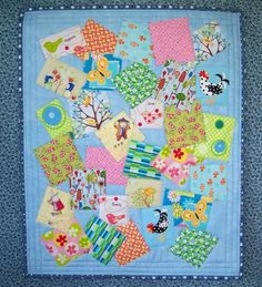 Doll Quilt- I like the randomness
