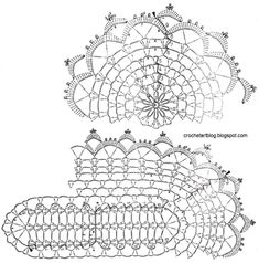 Easy Crochet Doilies Small lace doilies The doilies crochet patterns … Crochet Doily Diagram, Crochet Doily Patterns, Crochet Borders, Crochet Art, Thread Crochet, Crochet Motif, Vintage Crochet, Crochet Doilies, Crochet Stitches