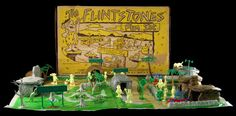 The Art of the of the Toy Soldier: Old School Toy Soldiers! Marx Flintstones Playset. From the Michigan Toy Soldier Company. Find us at: www.michtoy.com We Buy and Sell Collections and Accumulations of New & Old Toy Soldiers, Model Kits, Historical Miniatures, Historical Reference Books, Militaria, Vintage Toys and Related items. We also accept consignments. Please call toll free 1-888-642-4869 or email us at michtoystaff@michtoy.com or our website is at www.michtoy.com