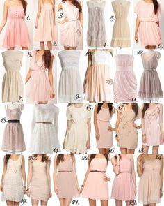 I love 1, 2, 3, 6, 8, 16, 17, 20, 21, 22, and 23 for their styles. Some of them are beige, so if they were all in some shade of pink or orange they'd be perfect!