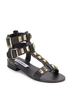 Perfeck Studded Leather Gladiator Sandals