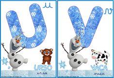 A Arte de Ensinar e Aprender: Cartelas alfabeto temático Frozen Frozen, Clip Art, Alphabet, Teaching, Creative Ideas, Creativity, Parties, Classroom, Pictures To Print
