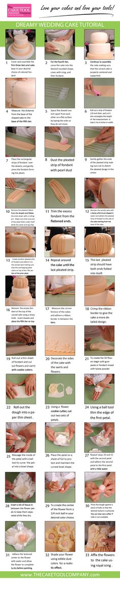 The Cake Tool Company | Dreamy Wedding Cake Tutorial