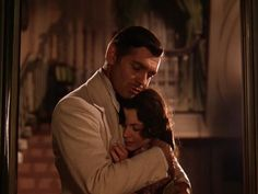 """Rhett Butler and Scarlet O'Hara from """"Gone with the Wind"""""""