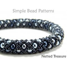 Beading Tutorials and Patterns – Easy Jewelry Making – Necklace Bracelet – Tubular – Netted – Simple Bead Patterns – Netted Treasure – Diy Bracelets İdeas. Bead Loom Patterns, Jewelry Patterns, Bracelet Patterns, Beading Patterns, Mosaic Patterns, Painting Patterns, Jewelry Ideas, Art Patterns, Embroidery Patterns