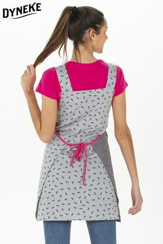 Estola , casullas de profesora. Estola con bordado. Estola con gatito.Batas y estolas de maestra. Apron, Fashion, Kitchen Aprons, Hot Pink, Kitty, Aprons, Woman, Fashion Styles, Pinafore Apron