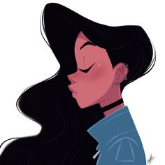 Evening #doodle with @procreate while watching tv. #girlsinanimation #drawing #sketch