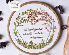 Embroidery pattern pdf  TreeEmbroidery hoop art